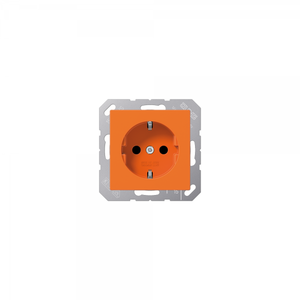 Jung A1520BFO SCHUKO-Steckdose bruchsicher orange hochglänzend