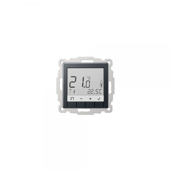 Jung TRDA231ANM Raumtemperaturregler mit Display anthrazit matt