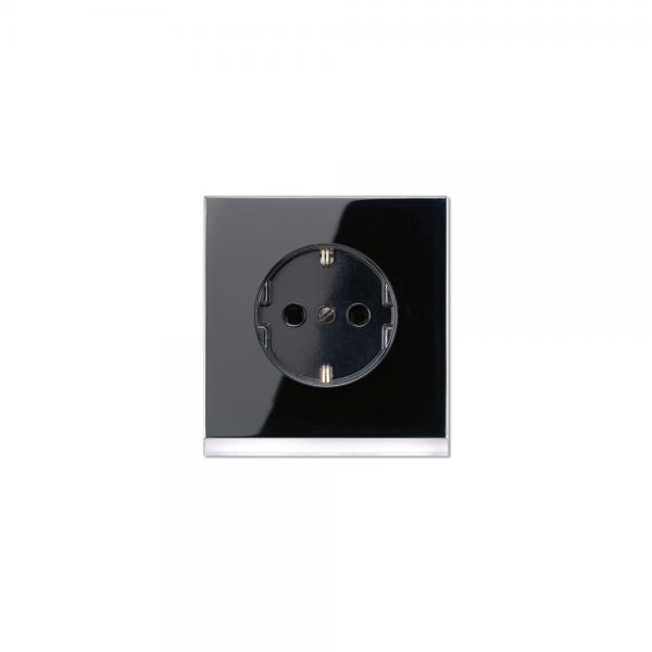 Jung LS520-OSWLEDW Steckdose mit LED Orientierungslicht LS990 schwarz