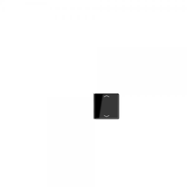 Jung A404TSAPSW14 Taste 4fach mit Symbolen Auf/Ab schwarz