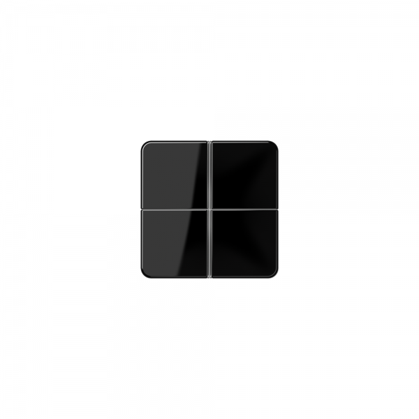 Jung CD404TSASW Tastensatz 4fach komplett schwarz