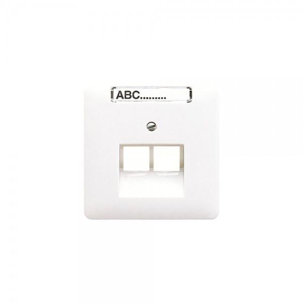 Jung CD569-2NAUAWW Abdeckung IAE/UAE-Anschlussdose mit Schriftfeld alpinweiß