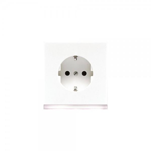 Jung LS520-OWWLEDW Steckdose mit LED Orientierungslicht LS990 alpinweiß