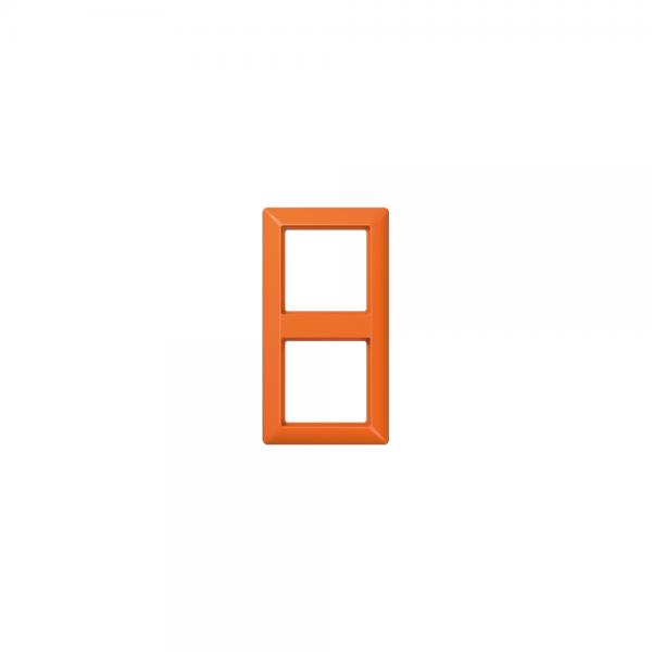 Jung AS582BFO Abdeckrahmen 2fach bruchsicher orange hochglänzend