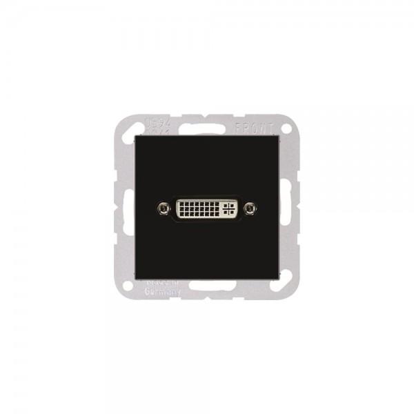 Jung MAA1193SW Multimediaanschlusssystem DVI schwarz