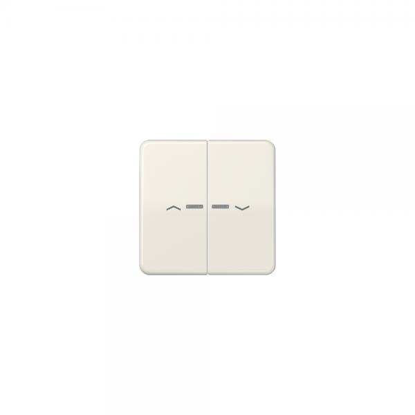 Jung CD595KO5P Wippe für Taster BA 2fach mit Lichtleiter und Symbol cremeweiß