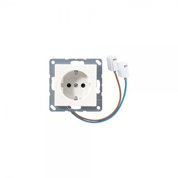 Jung A520-OBFWWLEDW SCHUKO-Steckdose LED-Orientierungslicht alpinweiss