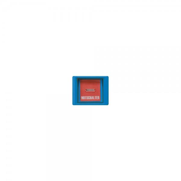 Jung AS561GLBL Abdeckung mit Glasscheibe Serie AS blau
