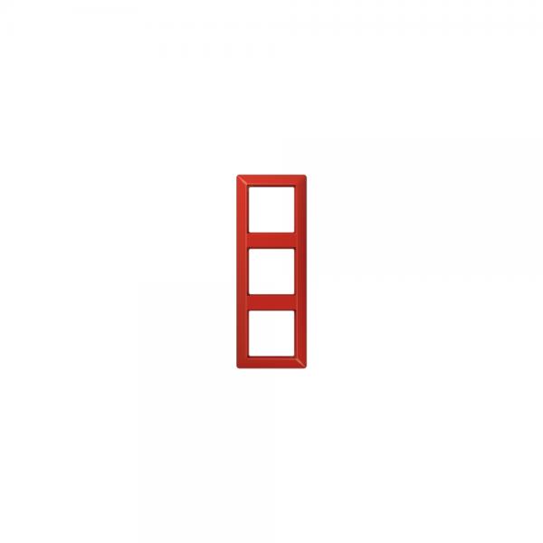 Jung AS583BFRT Abdeckrahmen 3fach bruchsicher rot hochglänzend