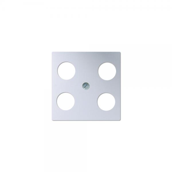 Jung A561-4SAT1AL Abdeckung Antennen-Steckdose aluminium