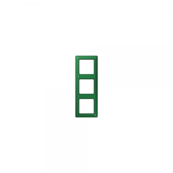Jung AS583BFGN Abdeckrahmen 3fach bruchsicher grün hochglänzend