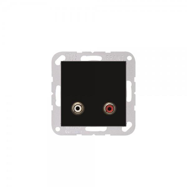 Jung MAA1021SW Multimediaanschlusssystem Cinch Audio schwarz