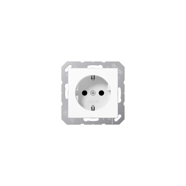 Jung ABA1520KIWW SCHUKO-Steckdose mit KS alpinweiß antibatkeriell