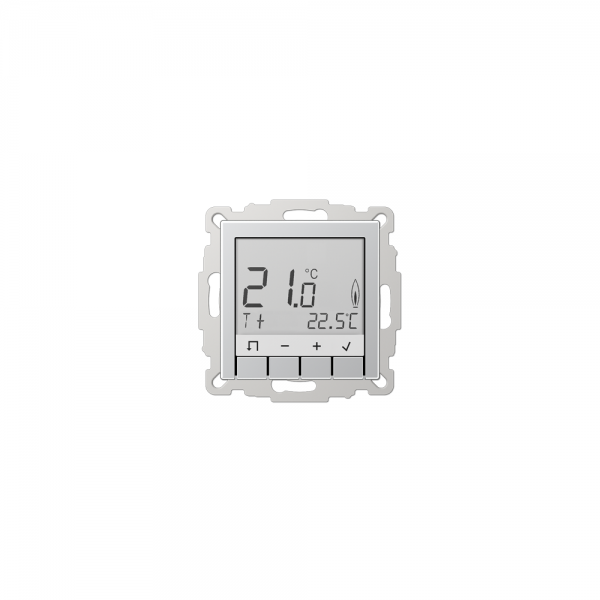 Jung TRDA231AL Raumtemperaturregler mit Display aluminium