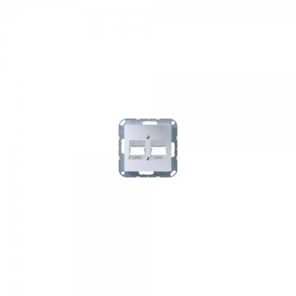 Jung A569-2NWEAL Abdeckung für Modular-Jack aluminium