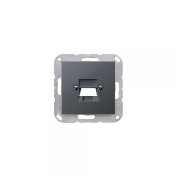 Jung A569-1NWEANM Abdeckung für Modular-Jack anthrazit matt