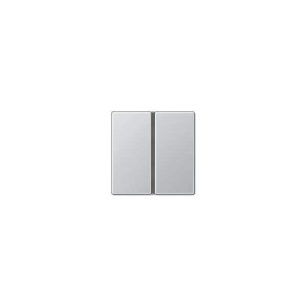 Jung A402TSAAL Tastensatz 2fach komplett aluminium