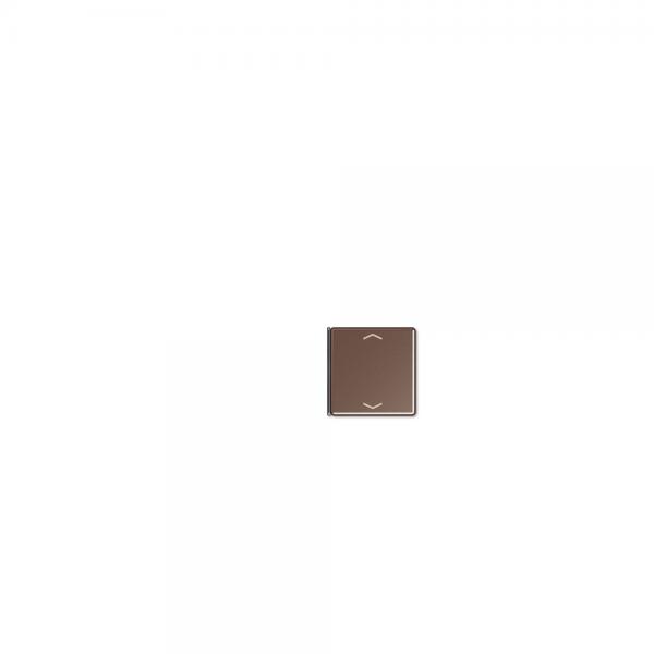 Jung A404TSAPMO14 Taste 4fach mit Symbolen Auf/Ab mokka