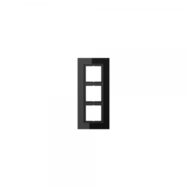 Jung LSP983GLSW Abdeckrahmen 3fach Glas schwarz