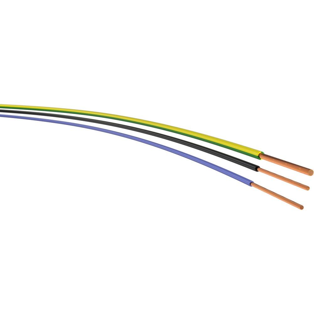H05V-K 0,75mm² PVC Verdrahtungsleitung feindrähtig braun 100 Meter Ring