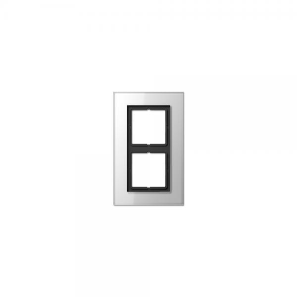 Jung LSP982GLWW Abdeckrahmen 2fach Glas weiß