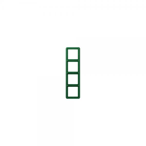 Jung CD584WUGN Abdeckrahmen 4fach bruchsicher grün