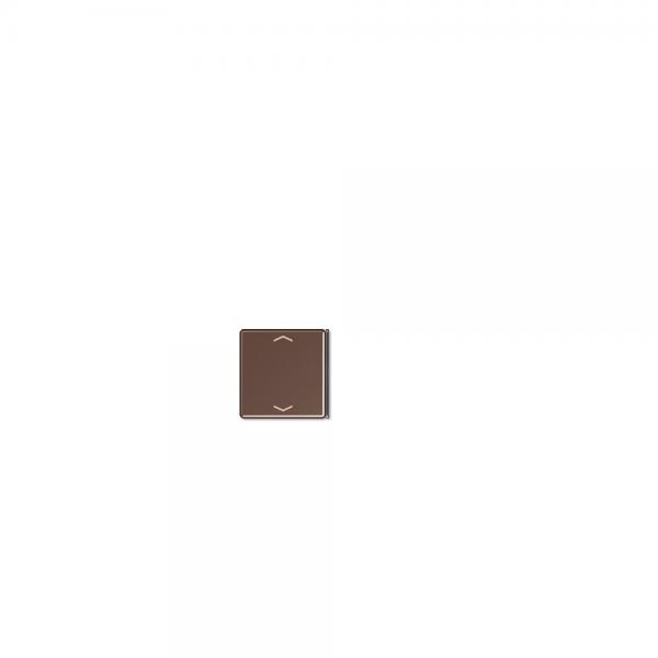 Jung A404TSAPMO23 Taste 4fach mit Symbolen Auf/Ab mokkka