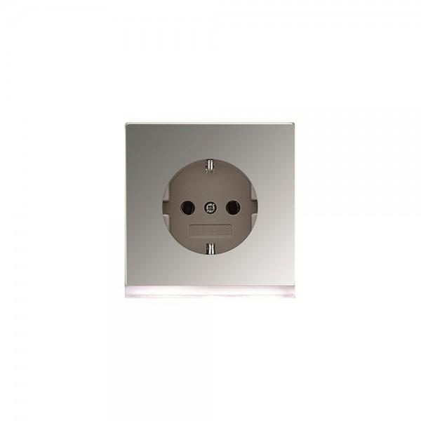Jung GCR2520-OLEDW Steckdose mit LED Orientierungslicht LS990 glanzchrom