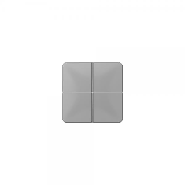 Jung CD404TSAGR Tastensatz 4fach komplett grau
