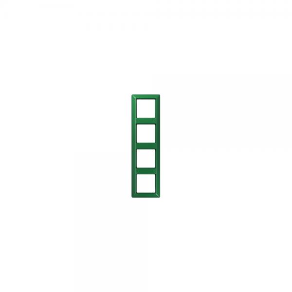 Jung AS584BFGN Abdeckrahmen 4fach bruchsicher grün hochglänzend