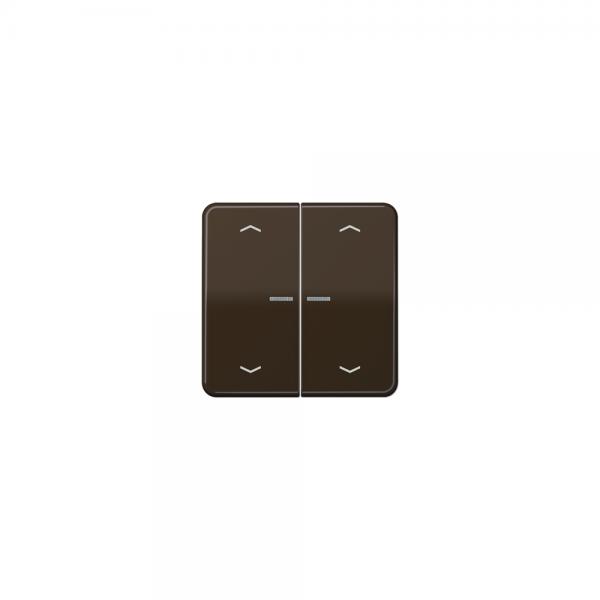 Jung CD595KO5MPBR Wippe für Taster BA 2fach mit Lichtleiter und Symbol braun