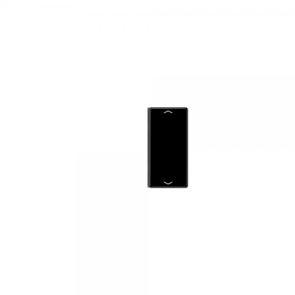 Jung A402TSAPSW Taste 2fach mit Symbolen Auf/Ab schwarz
