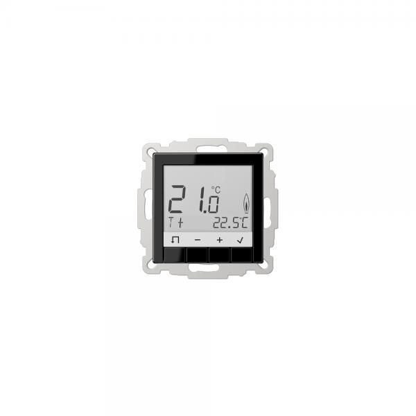 Jung TRDA231SW Raumtemperaturregler mit Display schwarz
