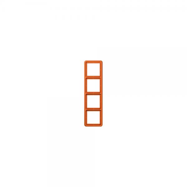 Jung CD584WUO Abdeckrahmen 4fach bruchsicher orange