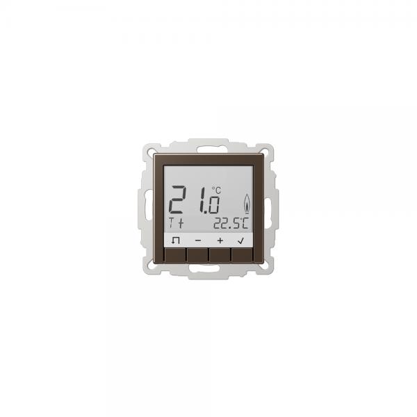 Jung TRUDA231MO Raumtemperaturregler mit Display mokka