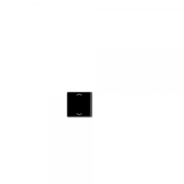 Jung A404TSAPSW23 Taste 4fach mit Symbolen Auf/Ab schwarz