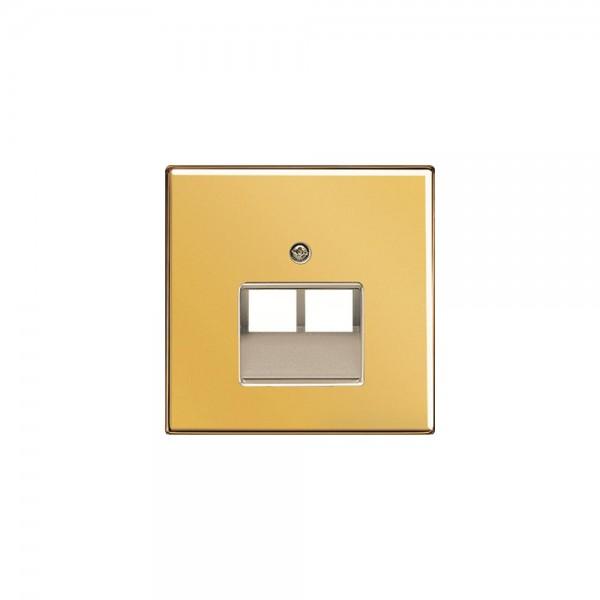Jung GO2969-2UA Abdeckung für Datendosen 2fach LS990 goldfarben