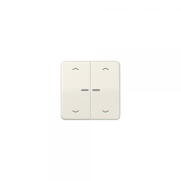 Jung CD595KO5MP Wippe für Taster BA 2fach mit Lichtleiter und Symbol cremeweiß