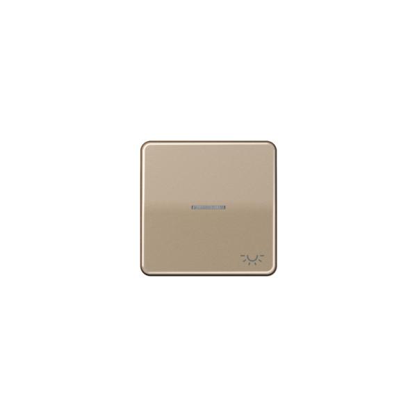 """Jung CD590KO5LGB Wippe mit Symbol """"Licht"""" Kontroll gold-bronze"""