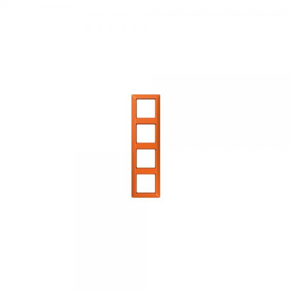 Jung AS584BFO Abdeckrahmen 4fach bruchsicher orange hochglänzend