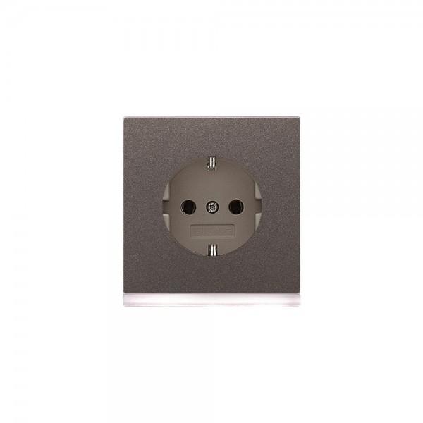 Jung AL2520-OANLEDW Steckdose mit LED Orientierungslicht LS990 anthrazit