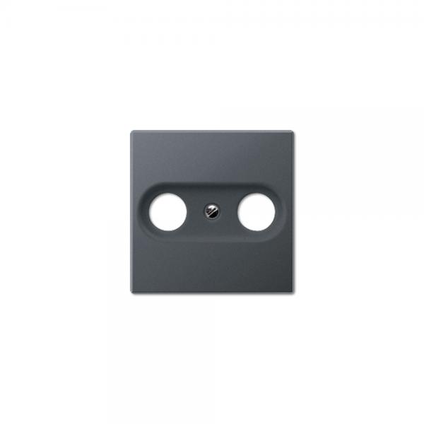Jung A561BFPLTVANM Abdeckung Antennen-Steckdose anthrazit matt