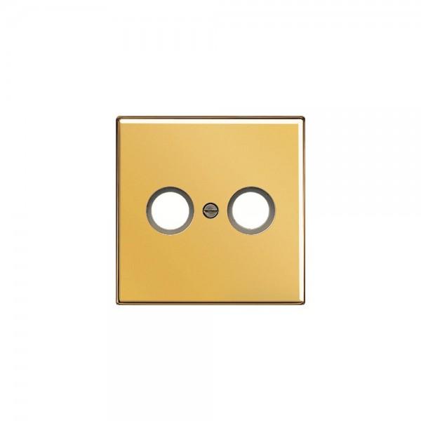 Jung GO2990TV Abdeckung für Antennen-Steckdose 2f LS990 goldfarben