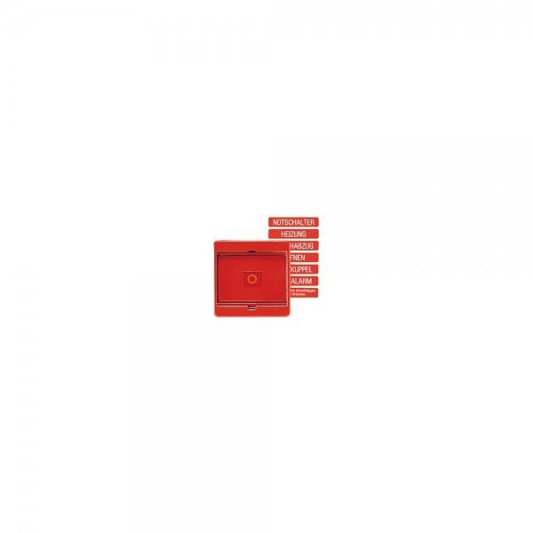Jung 561GLRT Abdeckung mit Glasscheibe rot