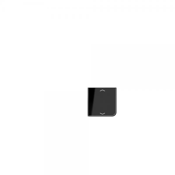 Jung CD404TSAPSW14 Taste 4fach mit Symbolen Auf/Ab schwarz