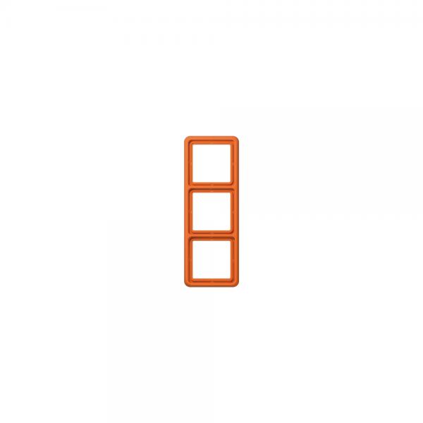 Jung CD583WUO Abdeckrahmen 3fach bruchsicher orange