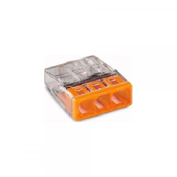 Wago 2273-203 COMPACT-Verbindungsdosenklemme 100 Stück transparent/orange