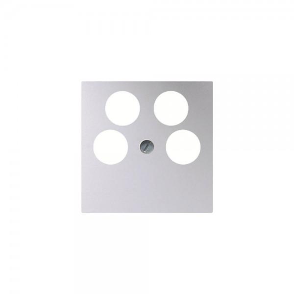 Jung A561-4SAT2AL Abdeckung Antennen-Steckdose aluminium