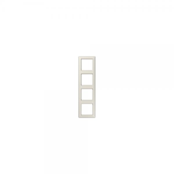 Jung AS584BF Abdeckrahmen 4fach bruchsicher cremeweiß hochglänzend
