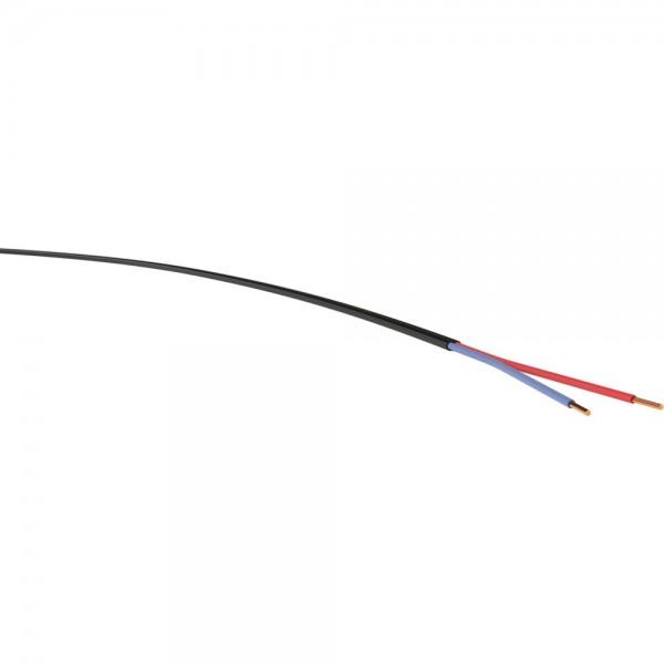 Niedervoltleitung 2x1,5mm² schwarz 100m Ring